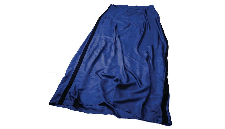 Sea to Summit Premium Silk Liner Long Rect navy blue
